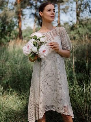 Платье из льна ручной работы