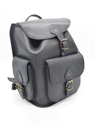 Рюкзак большой из жесткой кожи