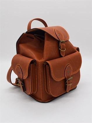 Рюкзак из жесткой кожи малый