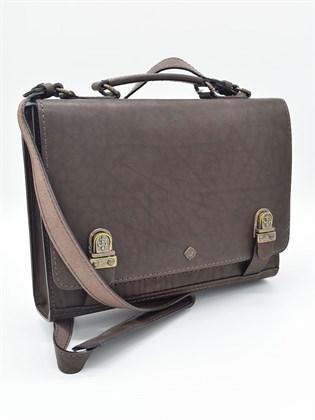 Сумка - портфель мужская из кожи
