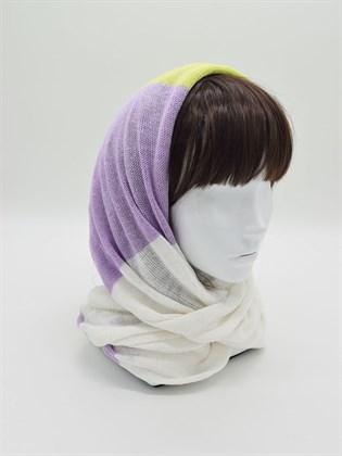 Снуд льняной (шарф-хомут)