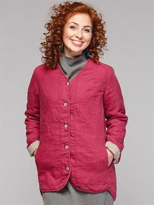 Женская льняная куртка - фуфайка