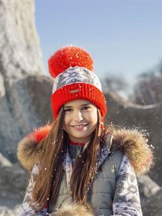 Комплект детский шапка с шарфом