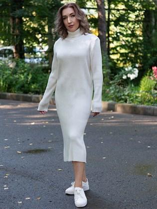 Платье трикотажное в рубчик