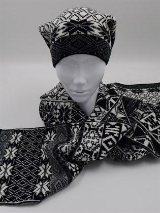 Мужской комплект: шапка и шарф