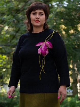 Джемпер женский вязаный