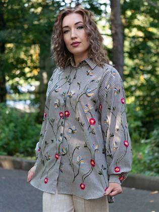 Рубашка женская льняная