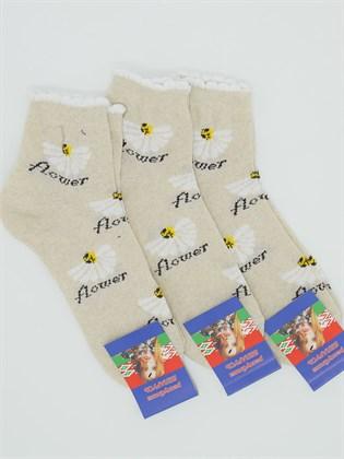 Носки женские Лен Ромашки (3 пары)