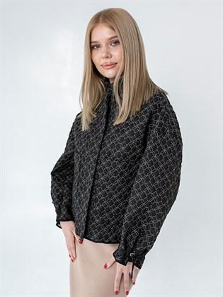 Куртка женская стеганая из льна