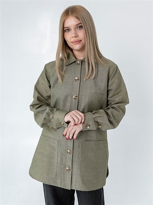 Блузка - рубашка женская изо льна