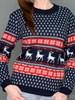 Женский джемпер с оленями (полушерсть) - фото 30918